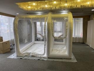 エアー式簡易陰圧室 導入事例 3室タイプ
