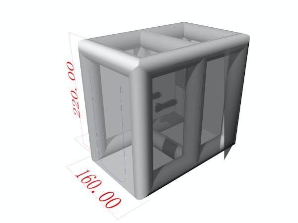 エアー式簡易陰圧室 導入事例 2室検査用タイプ